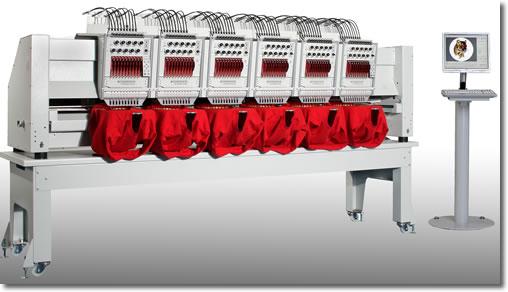 Fortron Mehrkopfstickmaschine mit 6 Stickköpfen